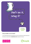 Don't bin it bring it - A3 poster for kettle