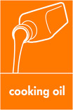 Cooking oil signage - oil icon (portrait)