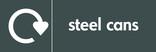 Steel cans signage - logo (landscape)