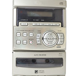Mini stereo with CD and tape player