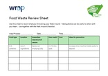 Your Business is Food (Manufacturing) - Food Waste Review Sheet