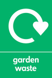 Garden waste icon - logo (portrait)