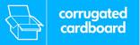 Corrugated cardboard signage - corrugated box icon (landscape)