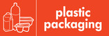 Plastic packaging signage - packaging icon (landscape)