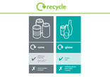 Cans and Glass multi-material recycling bin sticker