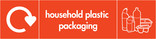 Household plastic packaging (no film) signage - assorted plastics icon with logo (landscape)