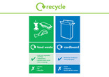 Food Waste and Cardboard multi-material recycling bin sticker