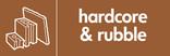 Hardcore & Rubble signage - rubble icon (landscape)