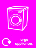 Large Appliances signage - washing machine icon with logo (portrait)