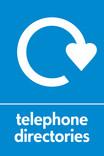 Telephone directories signage - logo (portrait)