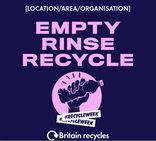 Empty, rinse, recycle social media asset. Embargoed until 23 September 2019