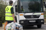 Collection crew and branded recycling lorry