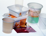 Yoghurt pots, margarine tub, plastic cups, sandwich container, crisp packet
