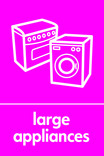 Large Appliances signage - cooker & washing machine icon (portrait)
