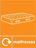 Mattress signage - mattress icon with logo (portrait)