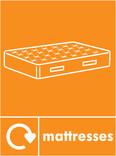 Mattress signage - mattress icon with logo (portrait)