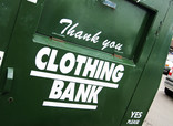 Close up of clothing bank