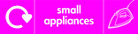 Small Appliances signage - iron icon with logo (landscape)