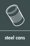 Steel cans signage - can icon (portrait)