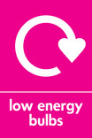 Low energy bulbs signage - logo (portrait)