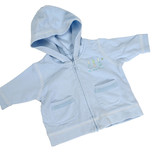 Baby zipped hooded jumper