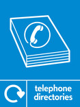 Telephone directories signage - directory icon with logo (portrait)