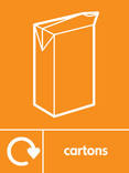 Cartons signage - carton icon with logo (portrait)