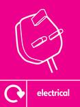 Electrical signage - plug icon with logo (portrait)