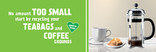 Recycle for London - Food recycling - Coffee (Cafetiere) - Facebook and Twitter Header images