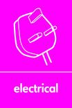 Electrical signage - plug icon (portrait)