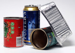 Food tins, drinks can, foil tray