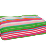 Striped fleece blanket