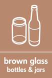 Brown glass signage - bottles & jars icon (portrait)