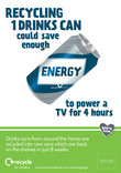 Recycle for London - Good to Know metal can poster A4