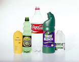 Assorted plastic bottles - toiletries, drinks, bleach and milk bottles