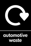 Automotive waste icon - logo (portrait)