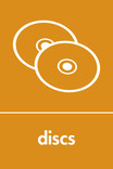 Discs signage - CDs icon (portrait)