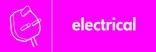 Electrical signage - plug icon (landscape)