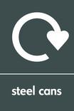 Steel cans signage - logo (portrait)