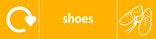 Shoes signage - shoes icon with logo (landscape)