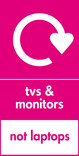 TVs & Monitors (not laptops) signage - logo (portrait)
