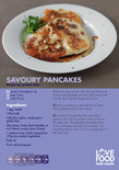 Student-friendly recipe,savoury pancakes