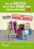 Recycle for London Unusual Suspects - A4 press advert