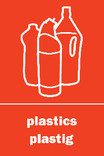 Plastics signage - logo (portrait, English-Welsh)