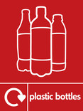 Plastic bottles (500ml juice) signage - juice bottles icon with logo (portrait)