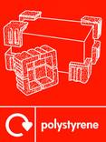 Polystyrene packaging signage - logo (portrait)