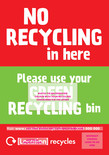 Recycle Now Urban 240L Residual Bin Sticker
