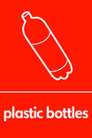 Plastic bottles signage - bottle icon (portrait)