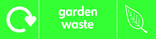 Garden waste signage - leaf icon with logo (landscape)