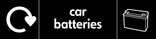 Car batteries signage - Battery icon with Logo (landscape)